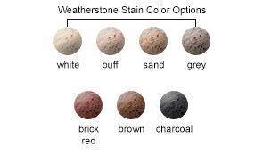Weatherstone Stain Color Options