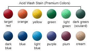 Acid Wash Stain (Premium) Color Options