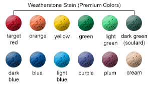 Weatherstone Stain (Premium) Color Options