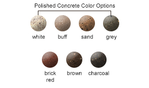 Polished Concrete Color Options