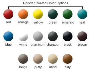 Powder-Coated Metal Color Options