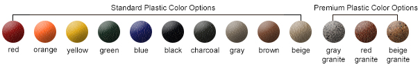 Plastic Color Options