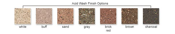 Acid Wash Finish Color Options