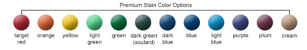 Premium Stain Color Options