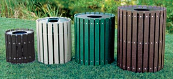 Extended Slat Recycled Plastic Receptacles