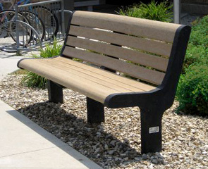 Recycled Plastic Park Bench | Malibu Bench