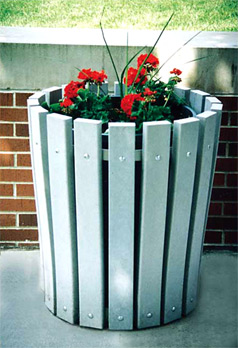 Recycled Plastic Round Planter