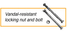 Vandal-Resistant Locking Nut & Bolt