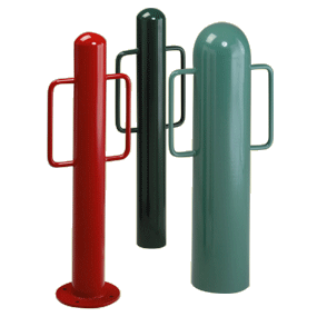 Bollard Bike Racks with 0,1 or 2 Arms