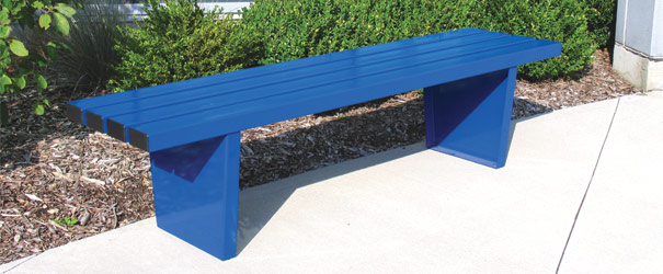 Commuter Style Park Bench | Metal | Park Benches | Belson Outdoors