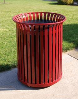 Steel Slat Waste Receptacles Belson Outdoors 174