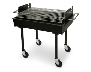 "Charcoal-Fired Commercial Barbecue Grill 48""L x 28""W x 38""H"