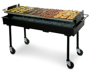 "Charcoal-Fired Commercial Barbecue Grill 72""L x 28""W x 38""H"