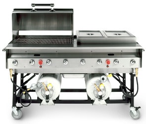 PG-SLPX, Stainless Steel Grill with Hood and Steamer Pan Accessories