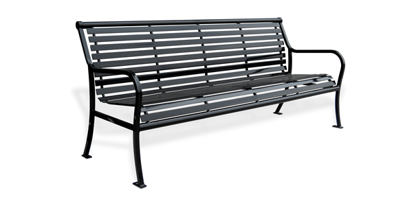 Parkview Steel Benches | Metal | Park Benches | Belson Outdoors