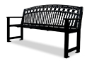 Arcadia Pattern Powder-Coated Steel Bench