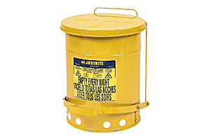 6 Gallon Yellow Oily Waste Cans