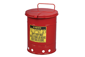 6 Gallon Red Oily Waste Cans