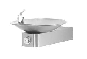 Model 1001BP | Stainless Steel Drinking Fountain with Round Sculpted Bowl