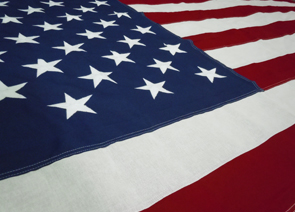 U.S. Interment Flag with Embroidered Stars and Sewn Stripes Detail