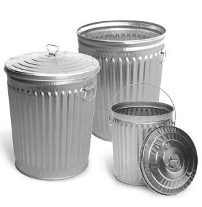 Galvanized Outdoor Trash Cans Metal Trash Receptacles