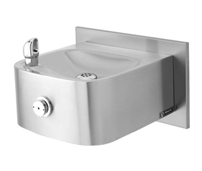 Model 1105 & Model BP3 | Wall Mounted Drinking Fountain shown with Back Panel