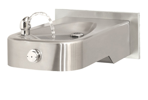 Wall Mounted Drinking Fountain with Back Panel