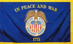 United States Merchant Marine Military Flag Graphic