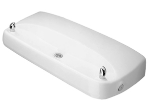 Model 1431 | Commercial Drinking Fountain | White Enameled Iron