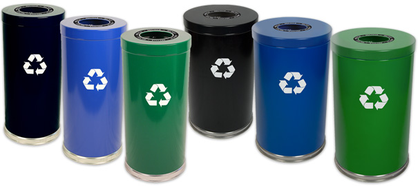 Metal Recycling Receptacle Collection