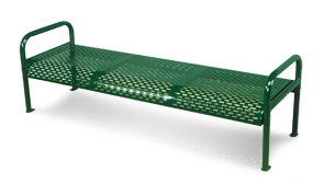 Model 1H6CBS | Perforated Steel Collection with Tubular Frames (Forest Green)