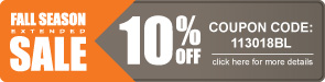 Fall Season Sale - 10% Off All Bleachers