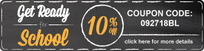 Get Ready for School Sales Event - 10% Off All Bleachers