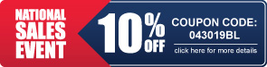 National Sales Event - 10% Off All Bleachers