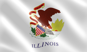Illinois State Flag Graphic