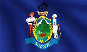 Maine State Flag Graphic
