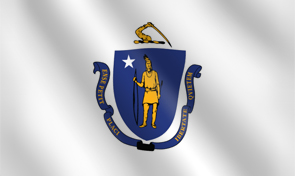 Massachusetts State Flag Graphic