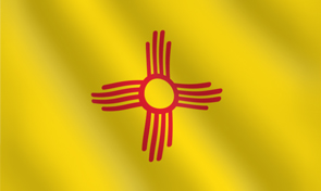 New Mexico State Flag Graphic