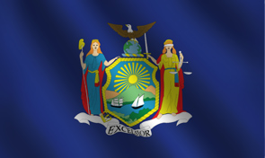 New York State Flag Graphic