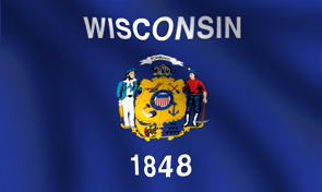 Wisconsin State Flag Detail