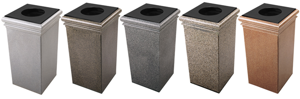StoneTec® | 30 Gallon Waste Containers Collection