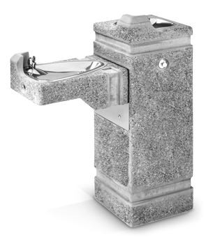 Model 3150FR | Freeze Resistant Drinking Fountain (Portland Gray Cement Color/Exposed Aggregate Finish)