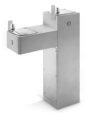 Model 3300G | Drinking Fountain, Hi-Lo 10 Gauge Galvanized Steel Pedestal