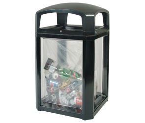 Landmark Series 50 Gallon Security Waste Container