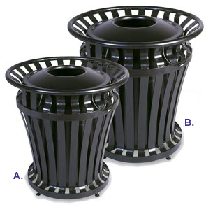 Model 4020 & 4021 | Weathergard® Series Trash Receptacles