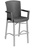 Model 49317008 | Havana Barstool with Arms with Charcoal Wicker Finish