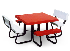 "Model 4SJCF-UH | 48"" Square Fiberglass Table"