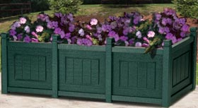 Model 5-PBCT | Recycled Plastic Decorative Panel Triple Planter