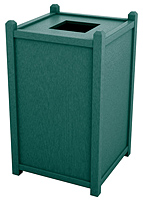 Model 5-STT26 | 26 Gallon Top Opening Recycled Plastic Trash Receptacle