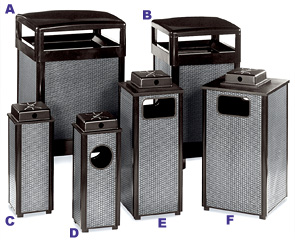 Black and Anthracite Perforated Steel Receptacle Collection
